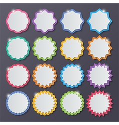 paper starburst speech bubbles vector image