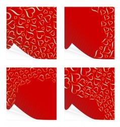 peeling Valentine's cards vector image