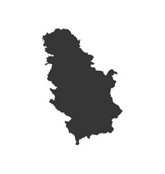 Serbia map silhouette vector