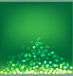 shamrock bokeh for st patrick day vector image vector image