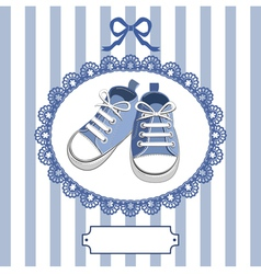 shoes and frame vector image