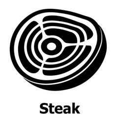 steak icon simple black style vector image