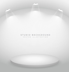 studio with a podium vector image vector image