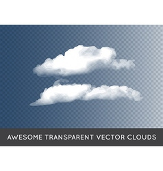 Transparent Clouds can be used with any background vector image vector image