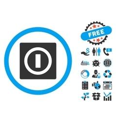 Turn off flat icon with bonus vector
