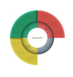 Creative round design template for infographics vector image