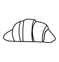 Silhouette croissant bread food icon vector