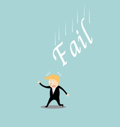 Fail investment cartoon concept vector