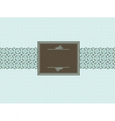 seamless pattern and brown frame vector image