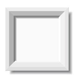 White stylish photo frame vector