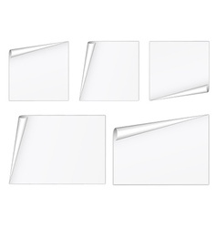 Blank white sheets vector