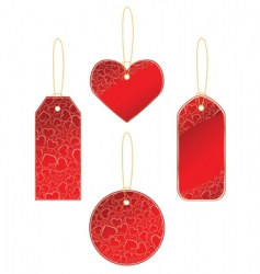 labels with hearts vector image