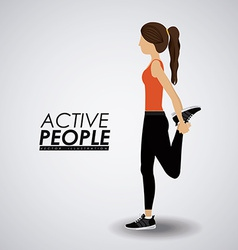 Fitness design vector