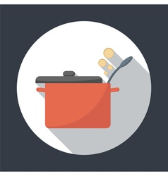 Saucepan icon vector