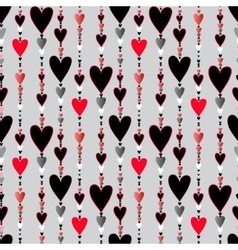 Seamless pattern hearts striped background vector