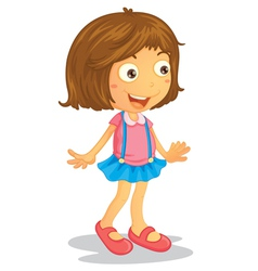 Cartoon young girl vector