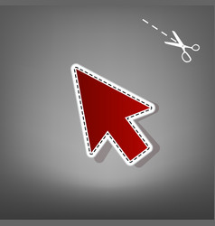 Arrow sign red icon with for vector