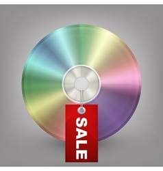 Blue-ray dvd or cd disc with label sale vector