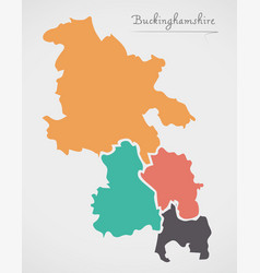 Buckinghamshire england map with states and vector