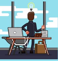 business sketch man vector image