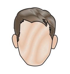 Character man face comic pop art vector