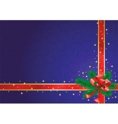 Christmas background blue vector image vector image