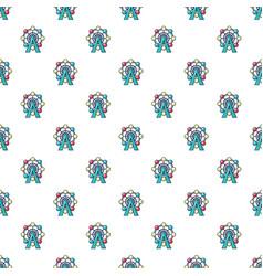 ferris wheel pattern seamless vector image