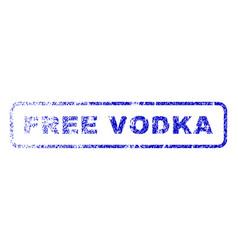 Free vodka rubber stamp vector