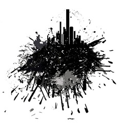 Grunge city skyscrapers vector image