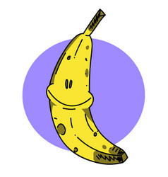 happy banana vector image