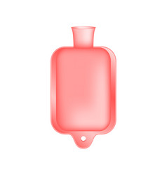 Hot water bottle in light red design vector