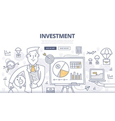 Investment doodle concept vector