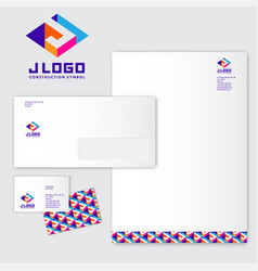 J logo monograms colored identity vector