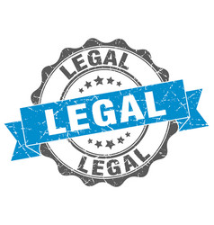 Legal stamp sign seal vector