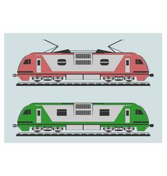 locomotive set vector image vector image