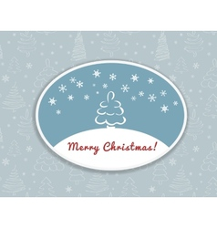 Merry Christmas postcard design vector image vector image
