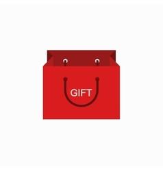 Modern shopping gift icon on white vector