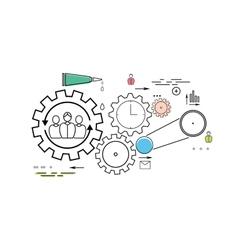 Modern teamwork concept vector