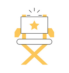 Movie director chair icon vector
