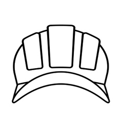 Outline helmet head protective industrial vector
