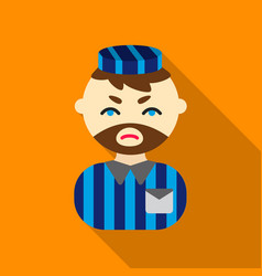 prisoner flat icon for web and vector image