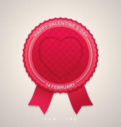 Round label for Valentines Day vector image
