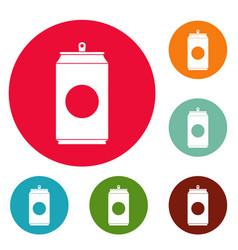 soda icons circle set vector image