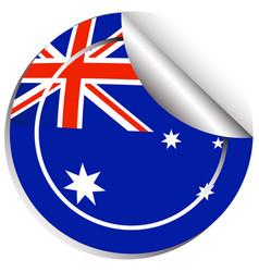 Sticker design for australia flag vector