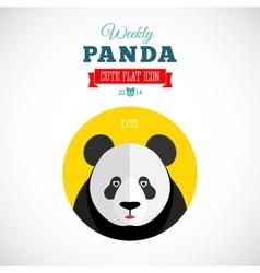 Weekly panda cute flat animal icon kiss vector