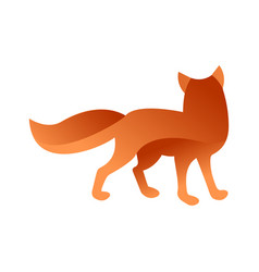 Wild fox animal jungle pet logo silhouette of vector