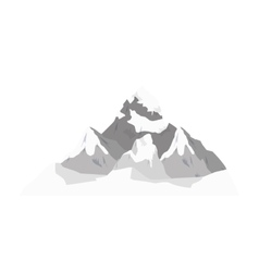 Winter landscape mountains vector
