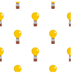 Yellow air balloon pattern seamless vector