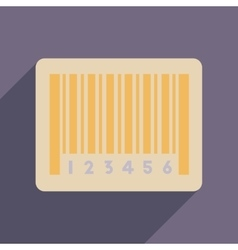 Flat web icon with long shadow bar code vector