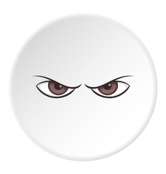 Gloomy eyes icon cartoon style vector